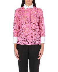 Valentino Boxy-Fit Lace-Detail Shirt - For Women - Lyst