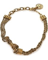 Lanvin Knot Chain Short Necklace gold - Lyst