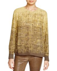 Vince Camuto - Abstract Print Top - Lyst