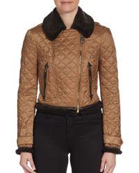 Burberry Brit Dunnington Cropped Quilt Jacket - Lyst