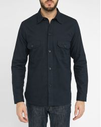 Sandro | Blue Us Navy Nautical Button Flannel Shirt | Lyst