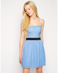 Love Pleated Bandeau Dress - Lyst