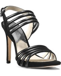 Michael Kors Cameron Python Pattern-embossed Leather Sandal - Lyst