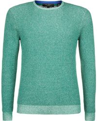 Ted Baker Tenis Plated Crew Neck Knit - Lyst
