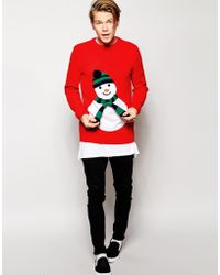 Asos Christmas Jumper with Knitted Scarf in Aid Of The Foundation - Lyst