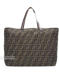 Fendi Preowned Zucca Large Tote Bag - Lyst