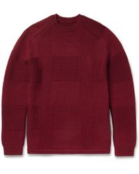 Folk Patternedknit Wool Sweater - Lyst