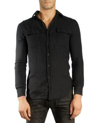 Ralph Lauren Black Label Denim Gray Work Shirt - Lyst