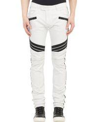 Balmain Racer Skinny Biker Jeans - Lyst