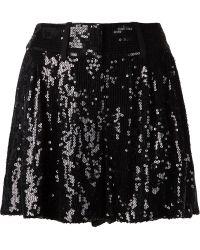 Diane von Furstenberg Sequinned Wide Leg Shorts - Lyst