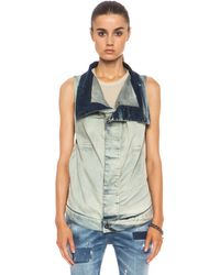 DRKSHDW by Rick Owens Exploder Sleeveless Jacket - Lyst