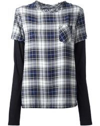 Diesel Layered Check Tshirt - Lyst