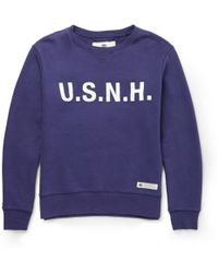 Neighborhood Usnh Printed Cotton Sweatshirt - Lyst