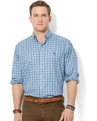 Ralph Lauren Polo Plaid Oxford Shirt - Lyst