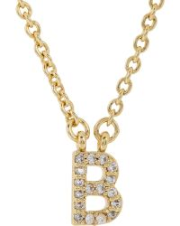 Sonya Renee Jewelry - Women's b Pendant Necklace - Lyst