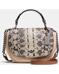 COACH | Nomad Top Handle Crossbody In Colorblock Exotic Embossed Glovetanned Leather | Lyst
