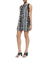 Proenza Schouler Sleeveless Printed Shift Dress - Lyst