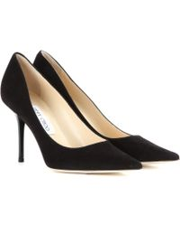 Jimmy Choo Agnes Suede Pumps - Lyst