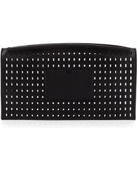 Reed Krakoff Atlantique Perforated Leather Zip Pouch black - Lyst