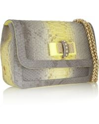 Christian Louboutin Sweet Charity Python and Leather Shoulder Bag - Lyst