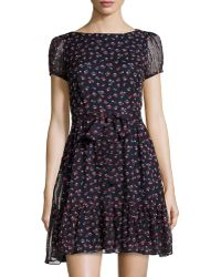 RED Valentino Silk Cherryprint Dress - Lyst