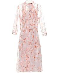 Max Mara Studio Fase Dress pink - Lyst