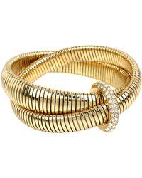 Diane von Furstenberg   Pave Interlocking Bracelet   Lyst