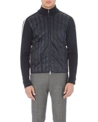 Moncler Quilted and Knit-panel Jacket - For Men - Lyst