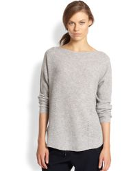 Vince Ribbed Cashmere Relaxed Boatneck Sweater - Lyst