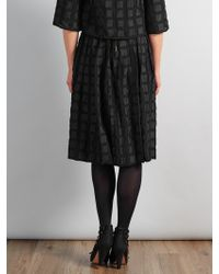 Somerset by Alice Temperley - Textured Check Skirt - Lyst