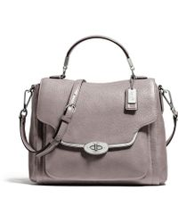 Coach Madison Small Sadie Flap Satchel in Leather - Lyst