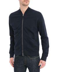 Hartford Blue Zipper Pockets Sweatshirt - Lyst