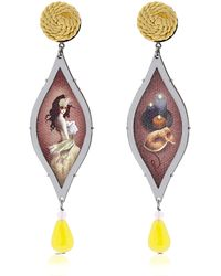 "Anna E Alex ""Ballo In Maschera"" Earrings - Lyst"