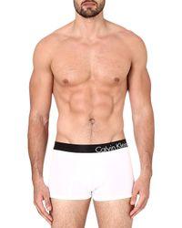 Calvin Klein Stretch-Cotton Logo Trunks - For Men - Lyst