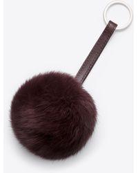 Vince | purple Rabbit Fur Pom Key Chain | Lyst