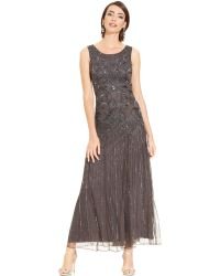 Pisarro Nights Sleeveless Beaded Sequined Gown - Lyst