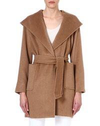 Max Mara Rialto Hooded Camel Hair Coat - For Women - Lyst