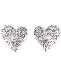 Vivienne Westwood Anglomania - 'diamante Heart' Stud Earrings - Lyst
