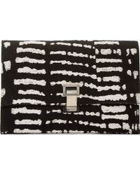 Proenza Schouler Black And White Woodblock Print Small Lunchbag - Lyst
