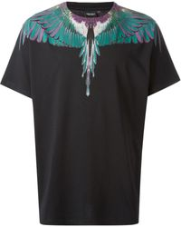 Marcelo Burlon County Of Milan Feather Print T-shirt - Lyst