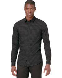 Calvin Klein Slim Fit Jaspe Stripe Colorblock Sport Shirt - Lyst