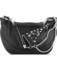 Jean Paul Gaultier Pm Small Leather Hobo Black - Lyst