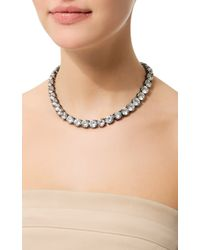 Fallon Classique Crystal Necklace - Lyst