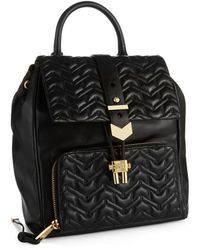 Badgley Mischka Textured Leather Backpack - Lyst