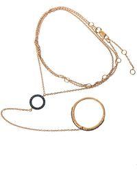 Aamaya By Priyanka - Circle Rose Goldplated Hand Bracelet - Lyst