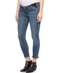 Paige Transcend Verdugo Cropped Maternity Jeans - Tristan - Lyst