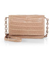 Nancy Gonzalez Crocodile Chain Wallet - Lyst