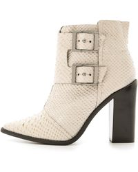 Tibi Piper Ankle Booties Putty - Lyst