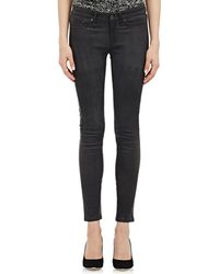 Rag & Bone Leather The Skinny Jeans - Lyst