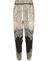 Etro Paisley Tapered Trousers - Lyst